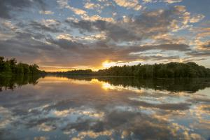 Clumber Park Lake sunset, Nottinghamshire, England, United Kingdom, Europe by John Potter