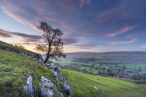 Dawn light over Arncliffe village in Littondale, North Yorkshire, England by John Potter