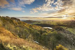 Lake Gormire and The Vale of York from Whitestone Cliffe, along The Cleveland Way, North Yorkshire, by John Potter