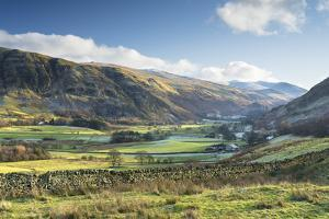 Late afternoon winter sunlight over Threlkeld Knotts, England by John Potter