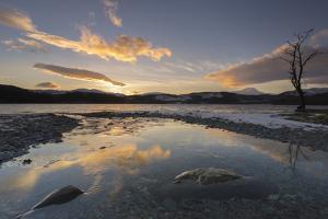 Loch Ard and Ben Lomond in mid-winter, Trossachs, Scotland, United Kingdom, Europe by John Potter