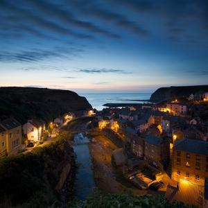 The Fishing Village of Staithes on the Yorkshire Coast, Just before Dawn by John Potter
