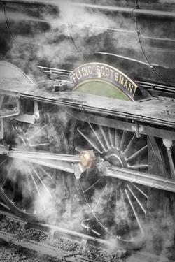 The Flying Scotsman steam locomotive at Goathland station, North Yorkshire Moors Railway, England by John Potter