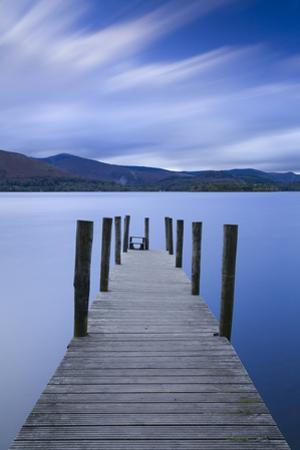 Twilight descends over the Watendlath jetty on Derwent Water, Lake District Nat'l Park, England by John Potter