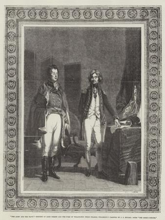 The Army and the Navy, Meeting of Lord Nelson and the Duke of Wellington (When Colonel Wellesley)