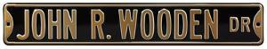 John R Wooden Dr Purdue Steel Sign