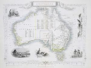 Australia, from a Series of World Maps, c.1850 by John Rapkin