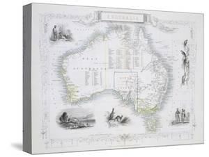 Australia, from a Series of World Maps, c.1850 by John Rapkin