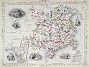 Map of China and Birmah, 1851 by John Rapkin