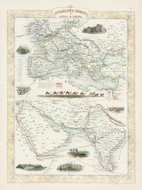 Overland Routes- India & China by John Rapkin