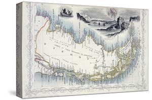 Patagonia, from a Series of World Maps Published by John Tallis & Co., New York & London, 1850s by John Rapkin