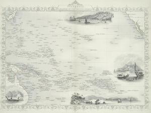 Polynesia or Islands in the Pacific Ocean, 1850s by John Rapkin