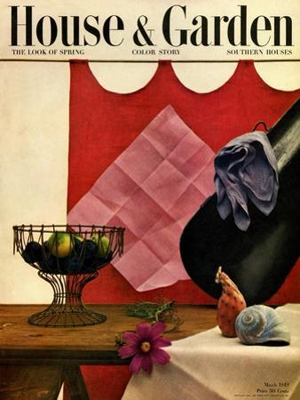 House & Garden Cover - March 1949 by John Rawlings