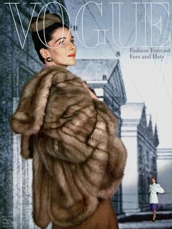 Vogue Cover - August 1945 by John Rawlings