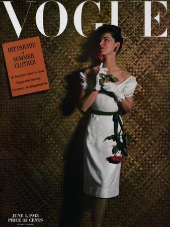 Vogue Cover - June 1943 by John Rawlings