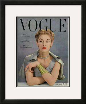 Vogue Cover - May 1950 by John Rawlings
