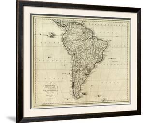 Map of South America, c.1796 by John Reid