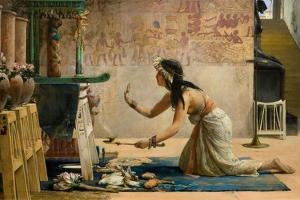 The Obsequies of an Egyptian Cat by John Reinhard Weguelin