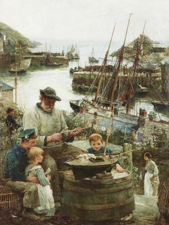 Shipmodel Maker with Harbour, 1908