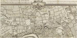 An Exact Survey of Chiswick and Hamersmith, 1745 by John Rocque