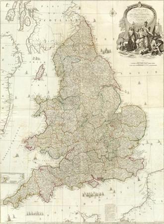 Composite: England, Wales, c.1790 by John Rocque