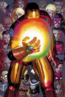 Avengers No.12: Iron Man with the Infinity Gauntlet by John Romita Jr.
