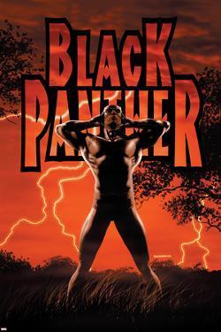 Black Panther No.6 Cover: Black Panther by John Romita Jr.