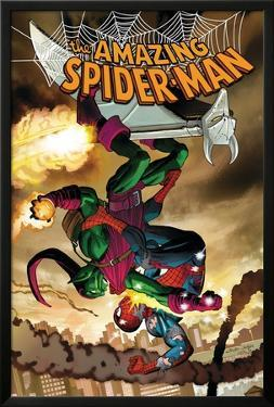 The Amazing Spider-Man No.571 Cover: Spider-Man and Green Goblin by John Romita Jr.