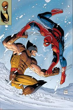 What If? Spider-Man Vs. Wolverine No.1 Cover: Spider-Man and Wolverine by John Romita Jr.