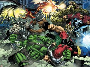 World War Hulk No.2 Group: Hulk by John Romita Jr.