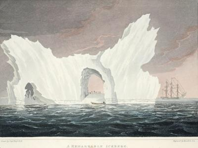 A Remarkable Iceberg, July 1818, Illustration from 'A Voyage of Discovery...', 1819
