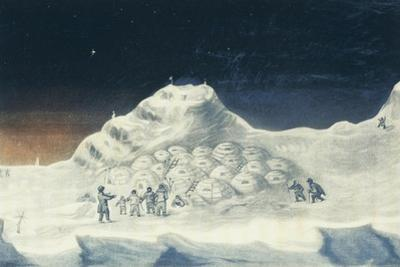 Igloo at North Hendon, Engraving from Narrative of Second Voyage in Search of North-West Passage