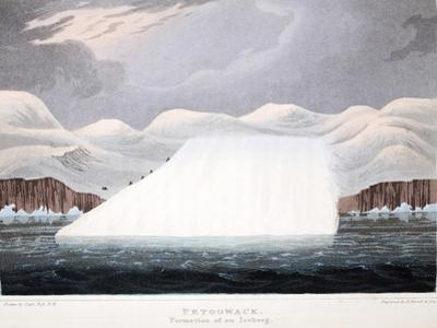Petowacx, Formation of an Iceberg, Illustration from 'A Voyage of Discovery...', 1819