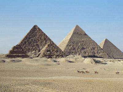 Pyramids at Giza, Unesco World Heritage Site, Near Cairo, Egypt, North Africa, Africa