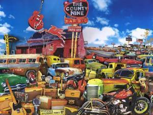 Red Guitar Lounge by John Roy