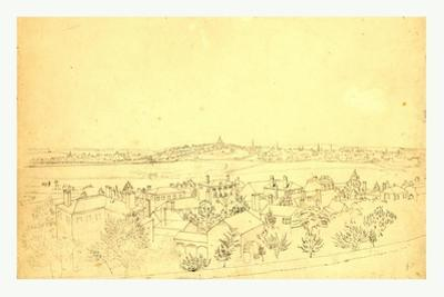 Boston, Charlestown and Bunker Hill as Seen from the Fort at Roxbury, 1828