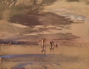 'A Grey Morning Near Venice', 19th century by John Ruskin