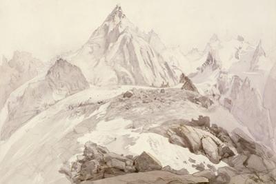 Aiguilles De Chamonix, C.1850