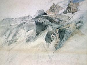 Chamonix, Aiguille Charmoz, from a Window of the Union, 1849 by John Ruskin