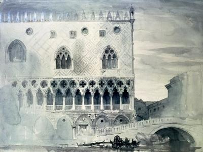 Exterior of Ducal Palace, Venice, 19th Century