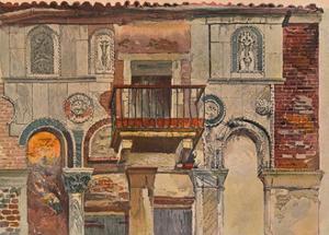 'Fondaco De Turchi, Venice', c1853 by John Ruskin