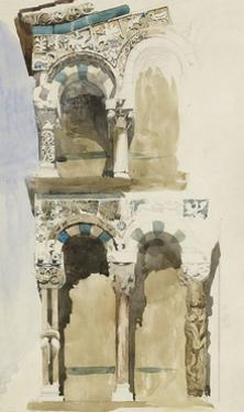 Part of the Façade of the Destroyed Church of San Michele in Foro by John Ruskin