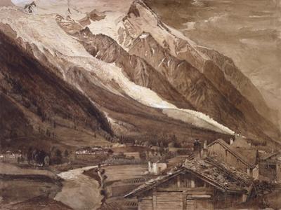 Recto: the Glacier Des Bossons
