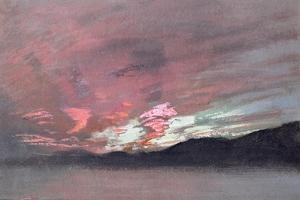 Stormy Sunset from Brantwood, Ruskin's Home in Cumbria by John Ruskin