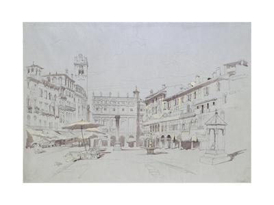 Study for Detail of the Piazza Delle Erbe