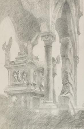Study for General Chiaroscuro of the Sarcophagus and Canopy of the Tomb of Mastino II Della Scala a