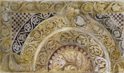 Study of a Panel on the Font of the Baptistery, Pisa, 27 - 29 April 1872