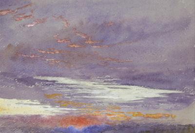 Study of Dawn: Purple Clouds, March 1868 by John Ruskin
