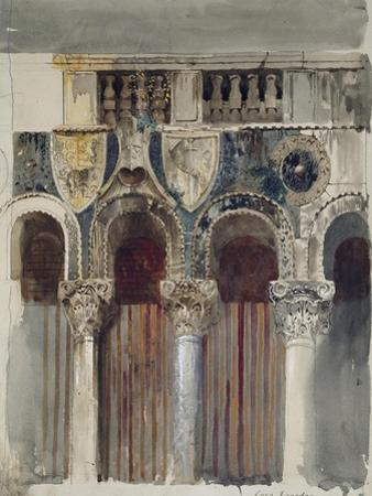 Study of the Marble Inlaying on the Front of the Casa Loredan, Venice, September - October 1845