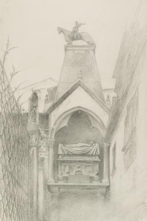 Study of the Tomb of Can Grande Della Scala at Verona, May - August 1869